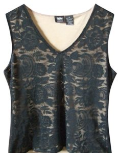 Mossimo Supply Co. Lace Lacey V-neck Top Black