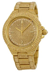 Michael Kors Michael Kors Crystal Encrusted Gold Ion-plated Watch