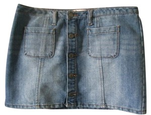 SO Mini Mini Skirt Blue Denim
