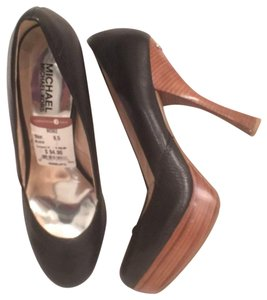 Michael Kors Leather Pump Formal New Mk Black Brown Platforms