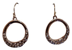 Alexis Bittar Alexis Bittar Rose Gold Hoops with Crystals