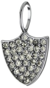 Juicy Couture Juicy Couture Mini Pave Shield Charm, Gunmetal YJRU5511