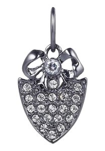 Juicy Couture Juicy Couture Mini Pave Shield & Bow Charm, Gunmetal YJRU5969