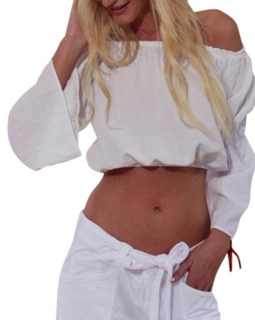 Lirome Summer Chic Sexy Boho Western Top White Image 7