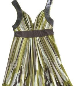 BCBGMAXAZRIA Garden Party Wedding Guest Cleavage Abstract Print Dress