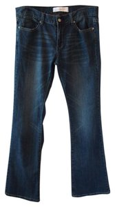 Paper Denim & Cloth Dark Wash Low Rise Boot Cut Jeans-Dark Rinse