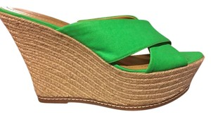 Nine West Lime green Wedges
