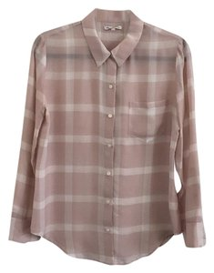 Madewell Button Down Shirt Blush and white