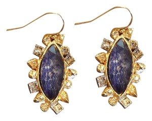 Alexis Bittar Alexis Bitter Blue Earrings with Crystals