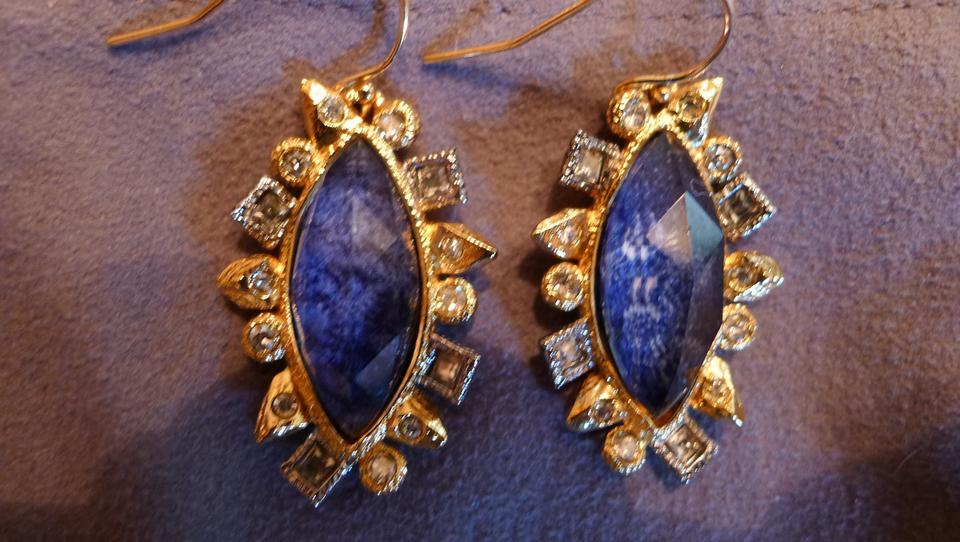 Alexis Bittar Blue With Crystals Earrings