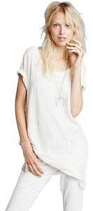 Free People Burnout T Shirt Ivory
