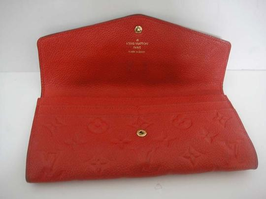 Louis Vuitton Authentic Louis Vuitton Curieuse Cherry Empreinte Leather Wallet Image 4