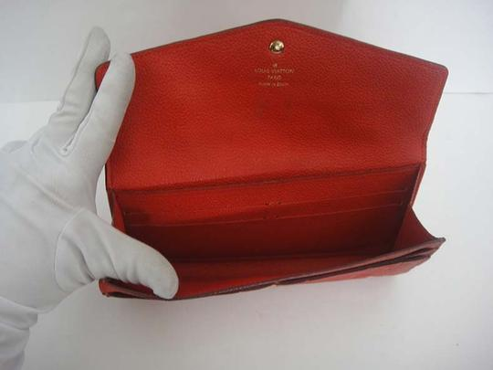 Louis Vuitton Authentic Louis Vuitton Curieuse Cherry Empreinte Leather Wallet Image 6