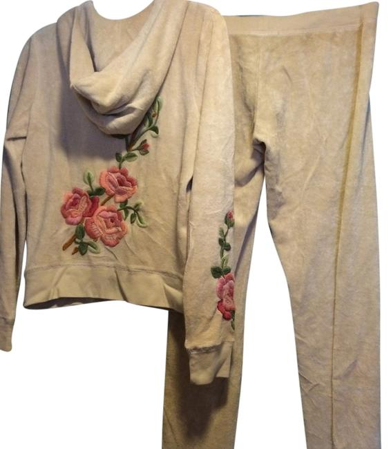 Item - Cream W/Floral Embroidery - Set - Pants & Activewear Outerwear Size 8 (M, 29, 30)