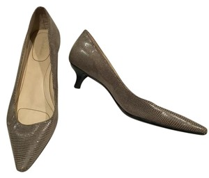 Calvin Klein Grey Snake Pumps