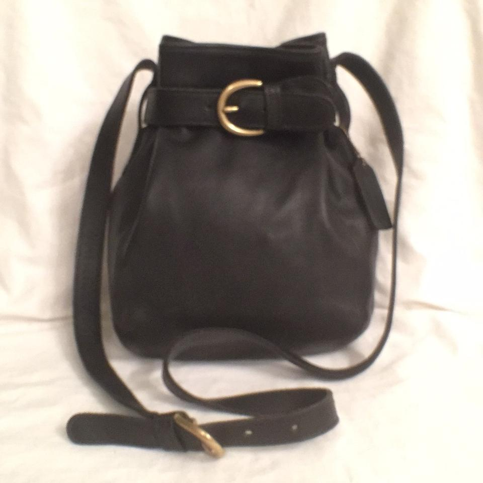 coach vintage soho buckle 4156 black gold leather cross body bag rh tradesy com
