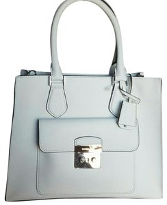 Michael Kors Leather Micheal Tote in Optic White