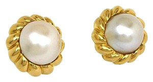 Tiffany & Co. Tiffany Co. 18k Gold Mabe Pearl Twisted Earrings