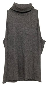 United Colors of Benetton Turtle Neck Spandex Top Gray