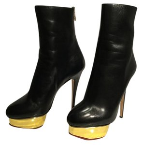 Charlotte Olympia Sexy Stunning Lightly Worn BLACK Boots