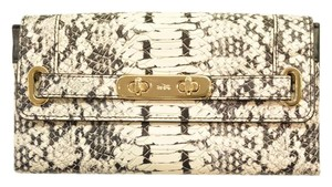 Coach Coach Swagger Wallet In Colorblock Python Embossed