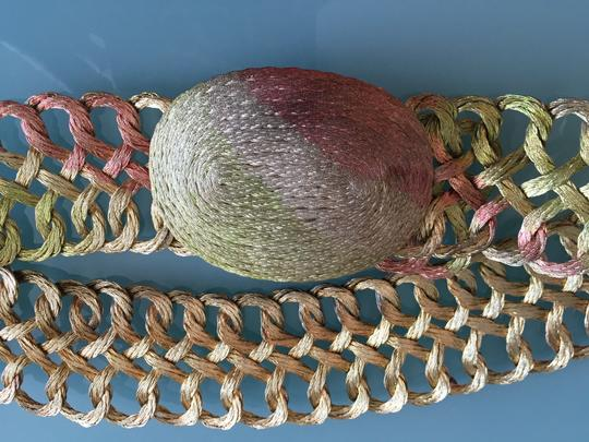 Other Hand woven multi colored wire belt