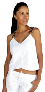 Lirome Embroidered Summer Tube Chic Top White