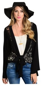 Other Bohemian Crochet Lace Bell Sleeve Poncho Cardigan