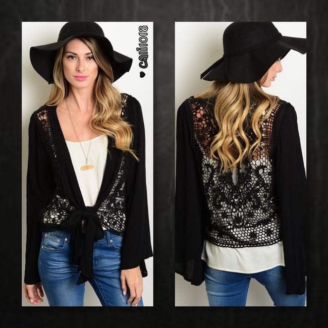 Other Bohemian Crochet Lace Bell Sleeve Poncho Cardigan Image 1