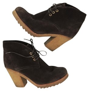 Prada Suede Leather Brown Boots