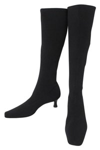 Talbots Knee High Fabric Shell Black stretch Boots