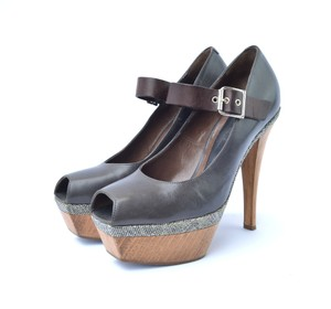 Marni Dark Brown Pumps