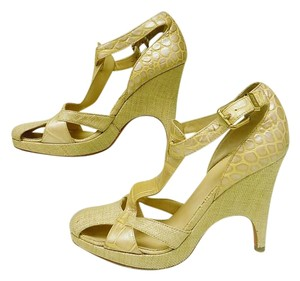 Versace Wedge Beige Sandals
