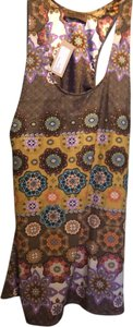 Karen Zambos short dress Yellow & Brown Print on Tradesy
