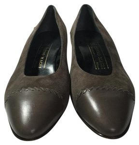 Bruno Magli Leather Light Brown Pumps