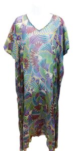 OndadeMar OndadeMar Printed Silk Maxi Cover Up Dress O/S