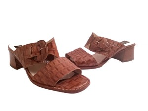 Amalfi Monk Strap Open Toe Leather Cognac Sandals