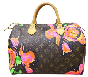 Louis Vuitton Lv Speedy 30 Rose Canvas Tote in multicolor