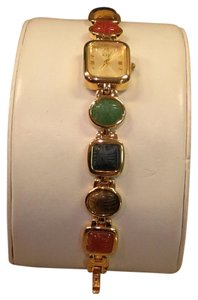 Kenneth Jay Lane Scarab Band Quartz Watch