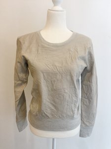 Helmut Lang Leather Wool Contrast Sweater