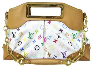 Louis Vuitton Lv Judy Mm White Satchel in multicolor