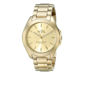Coach NWT Women's Tristen 36mm Gold Bracelet Watch