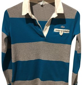 Lacoste T Shirt Teal & Gray