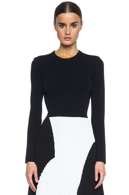 Proenza Schouler Cropped Knitted Sweater Image 7