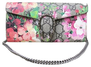 Gucci Like New Blooms Dionysus gray Clutch