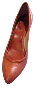 Frye Fall Orange Leather Quality spice Pumps