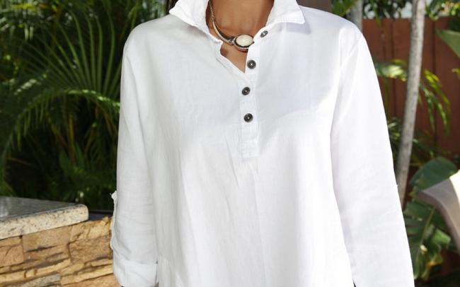Lirome Embroidered Casual Summer Western Country Tunic Image 3