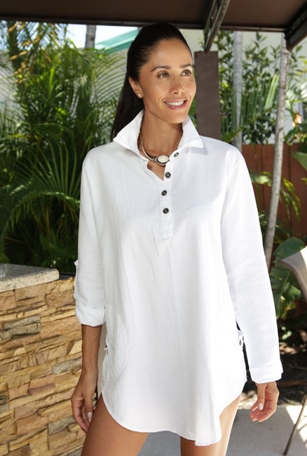Lirome Embroidered Casual Summer Western Country Tunic Image 5
