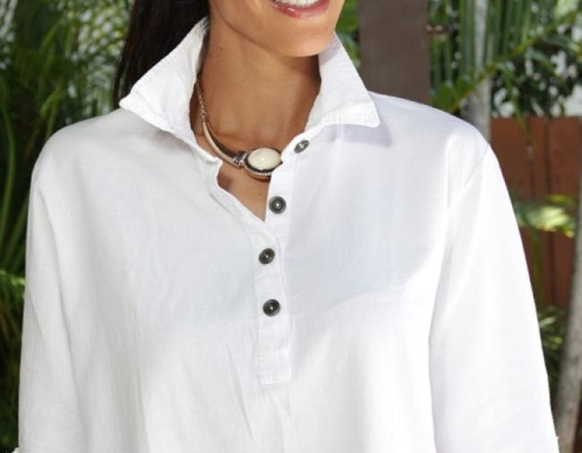 Lirome Embroidered Casual Summer Western Country Tunic Image 7