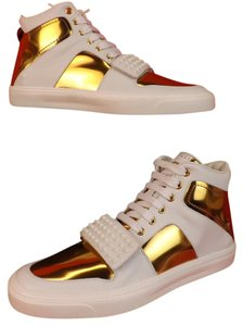 Gucci White/Gold Metallic Athletic